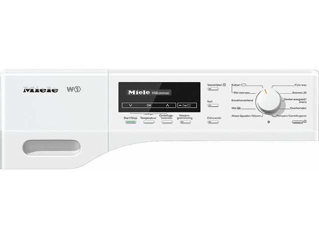 miele wkb 130 wcs wit wasmachine 8kg 1600toeren a nieuw bkeus krasje of deukje laagste. Black Bedroom Furniture Sets. Home Design Ideas
